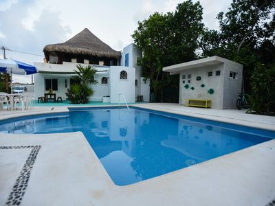 Photo for NEW POOL! AUTHENTIC MAYAN PALAPA