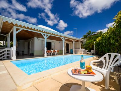 Photo for Creole villa close to the sea, swimming pool, 6 people, fully equipped