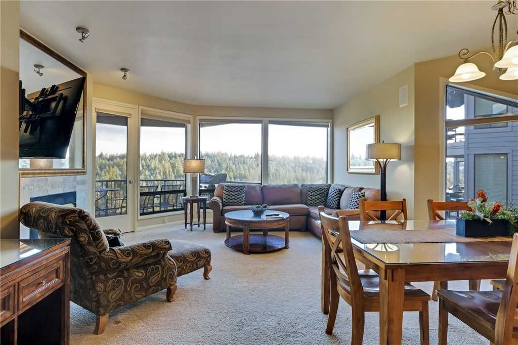 Private, two bedroom river view condo in Bend with gas fireplace and access  to fitness center. - Century West