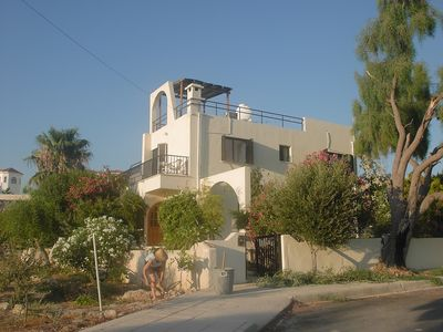 Photo for Excellent Location 4mins to Beach and village, large pool, comfortable