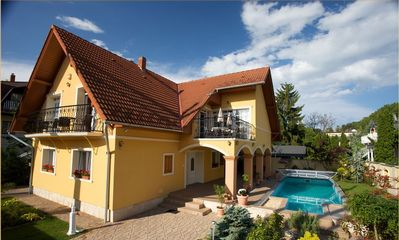 Photo for New villa with air conditioning in Siofok with large pool, just 100m from the beach