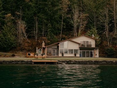 Photo for Lake Crescent Waterfront Home in the Olympic National Park.