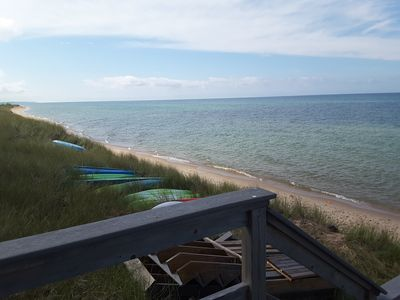 Photo for Lake Michigan - Great views,  2000 ft of beach, you might see our Bald Eagles.