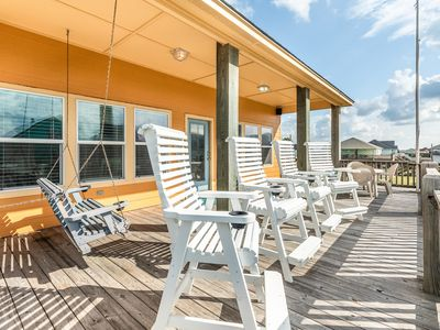 Photo for NEW LISTING! Beautiful home w/ large deck - steps to the beach, 2 dogs OK!