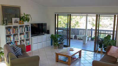 Photo for Elevated family home with pool, mountain views, walk to Noosa Main Beach