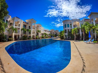 Photo for Second Floor Unit with views of the gardens and pool at Paseo del Sol by BRIC