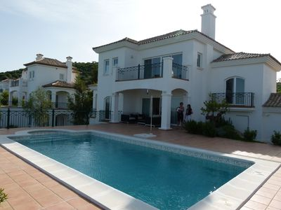 Photo for Beautiful, well-equipped villa with pool on 12th fairway with views to Arcos.