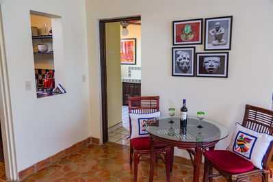 Your dining area, kitchen to the left.