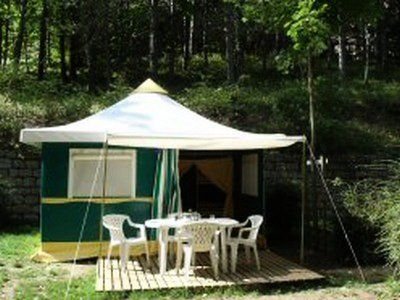 Photo for Camping Les Fouguières *** - Lodge Toile River 3 Rooms 4 People Without Sanitary