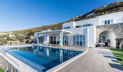 Photo for Luxury Paros Villa – Standard rate Guests: 12 Bedrooms: 6 Bathrooms: 4