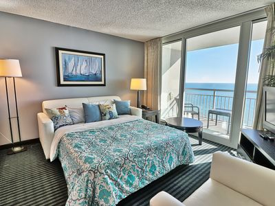 Photo for NEWly Renovated Luxury 2BR/2BA with Two Direct Oceanfront Balconies/GYM/WF/Quiet