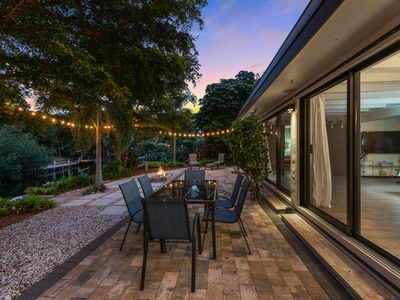 Photo for Contemporary, waterfront home w/ a furnished patio & easy Gulf access