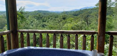 Photo for Pigeon Forge Cabin Honeymoon Family *MtnVIEW*2miPKWY*5miDollywd*PeekAView*GSMNP
