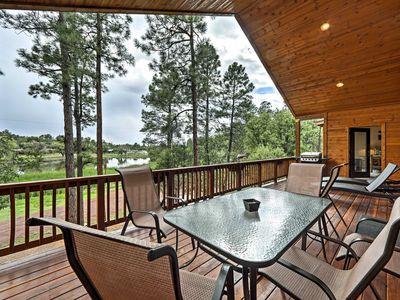 Photo for NEW! Lakefront Cabin w/ 3 Decks & Amazing Views!