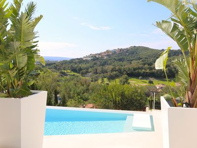 Photo for Luxury Villa with SPA, heated pool and sea-golf views
