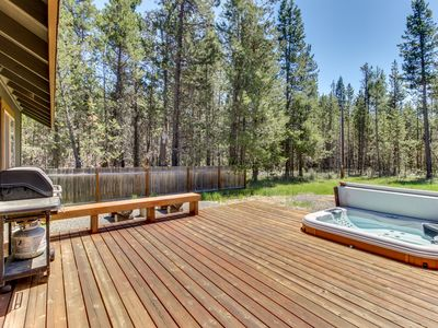Photo for Enjoy a private hot tub & modern comforts at this dog-friendly Sunriver getaway!