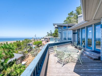 Photo for Luxury home w/ a private hot tub & stunning ocean views - close to hiking!