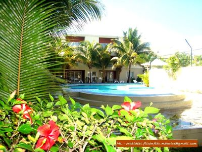 Photo for Flic en Flac Apartment in a 3 * quiet beachfront and secure