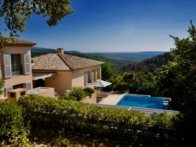 Photo for Superb Villa with exceptional sea view, Gulf of St Tropez