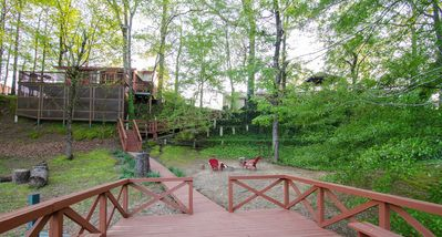Photo for Cabin equipped: Wifi, Satellite TV, Deck over water for fishing, Foosball table