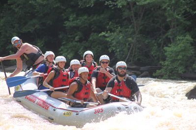 Whitewater rafting with my nephews on the Ocoee River