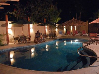 Enjoy the Private courtyard with Pool, Barbecue and more.