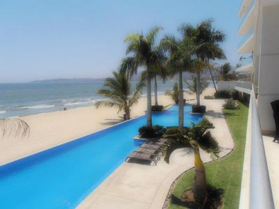 Photo for Oceanfront Luxury Condo ~ Beach Life ~ North Puerto Vallarta Area