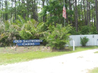 Entrance To The Old Saltworks Cabins And The LOOKOUT CABIN