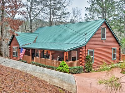 Photo for Authentic Creekside Log Cabin w/ Decks in Ellijay!