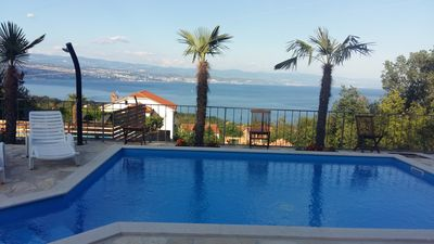 Photo for Large apartment with POOL, 165 m2 and beautiful sea view