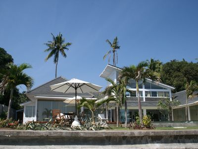 Photo for new, very luxurious 4 bedroom villa directly on the sea