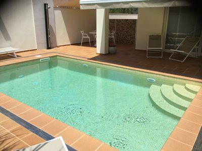 Photo for Modern villa with private heated pool