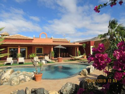 Photo for Dream villa with private tennis court & heated pool & children's play area