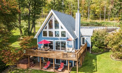 Photo for Wispering Waters: Centrally located lakefront chalet!