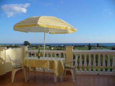 Photo for Panoramic sea views, modern 3 Bedroom house close to beach