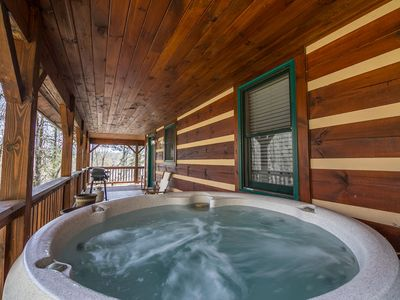 Photo for Uncle John's Cabin in peaceful Valle Crucis - Hot Tub - Pool Table - Ping Pong