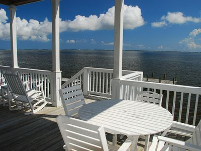Photo for Sound front Manteo Home in Pirates Cove Community. Community Pool, family activities & more!