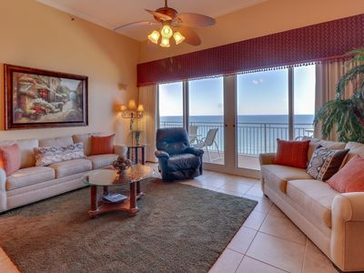Photo for Beach view condo with large balcony and shared pool/hot tub