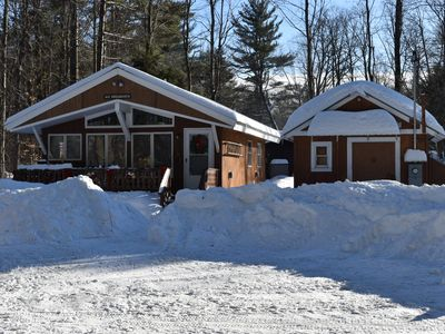 Photo for 2 bedroom 1 bathroom cabin located right on  snowmobile trail 19.