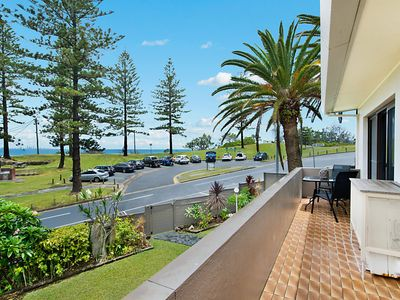 Photo for Rainbow End Unit 2 Balcony with ocean views overlooking Rainbow Bay Coolangatta