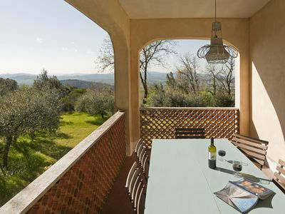 Photo for Charming hillside villa set in olive grove with spectacular views