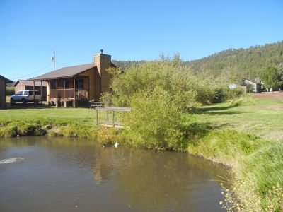 Photo for 2BR/1BA Cabin on Main Street in Greer/Stocked Trout Pond! $145 nightly