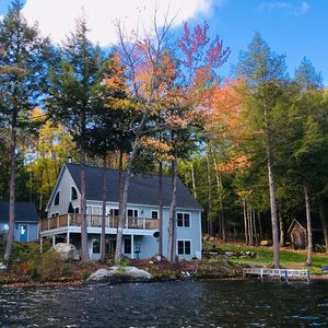 Amazing Newer Lake Front/Ski Home with 200' on Crescent Lake in Acworth, NH