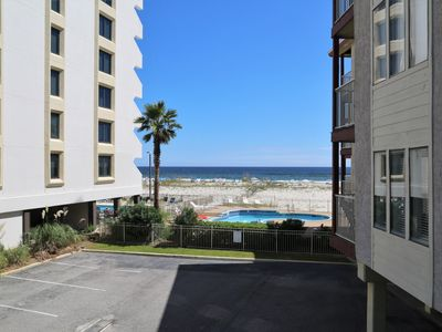 Photo for Southern Sands 102 ~  Renovated, Private Balcony w Beach View, Free WiFi ~ Walk to town!