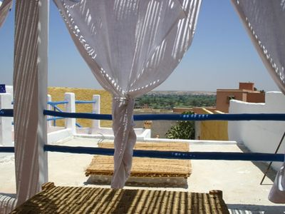 Photo for Berber traditional house with terrace on the palm of Massa