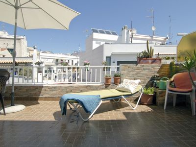 Photo for Penthouse CAROL, with terrace 5 minutes from the beach and the center of Sitges