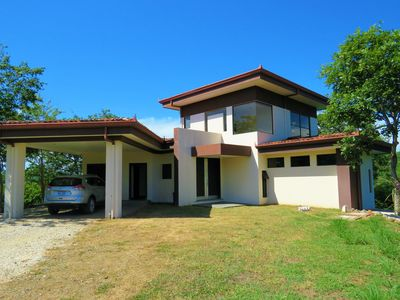 Photo for Modern, secluded, spacious villa with forest views & 5 minutes from the beach