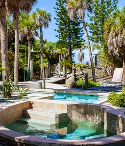 Photo for Gulf View With Pool, Hot Tub, Large Dock.  Steps From The Beach, Newly Renovated