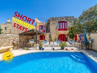 Photo for Authentic Gozitan Converted Farmhouse With Private Pool