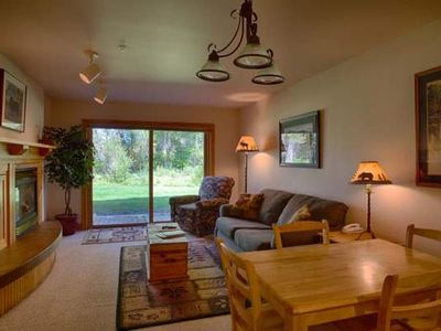 Photo for Intimate 1 bedroom/1 bath ground floor condo close to Grand Targhee Resort and Driggs.